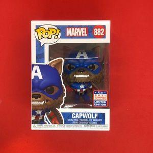 CAPWOLF Funko Pop Marvel #882 2021 Funkon Amazon